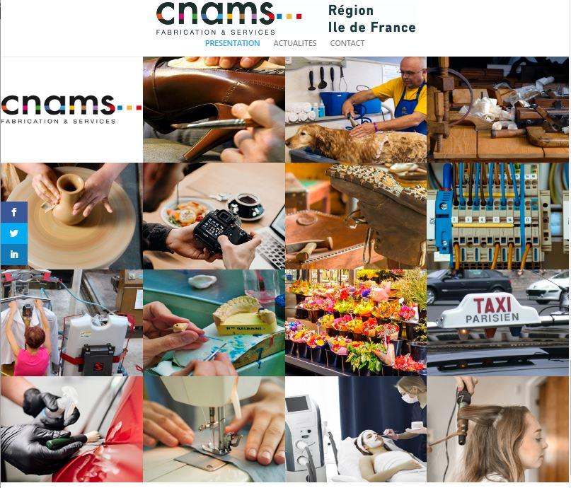 Site internet CNAMS IDF