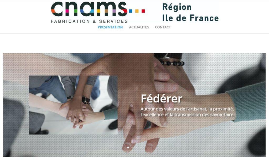 Site internet de la CNAMS Ile-de-France